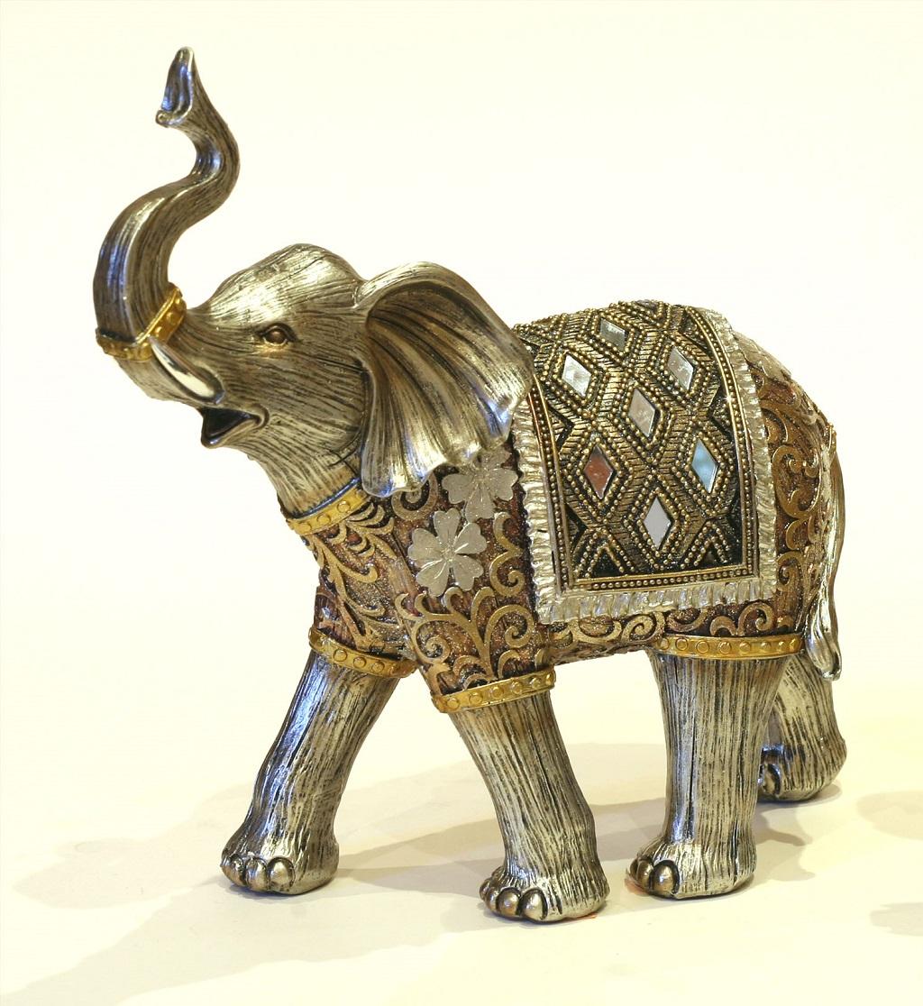 Elefante dorado decoracion pastor for Muebles elefante
